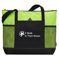 A WALK IN THEIR SHOES ZIPPERED TOTE